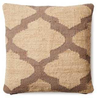 Trellis 20x20 Wool-Blend Pillow, Taupe - One Kings Lane