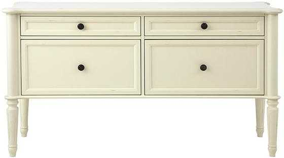 INGRID FILE CONSOLE - Rubbed Ivory - Home Decorators
