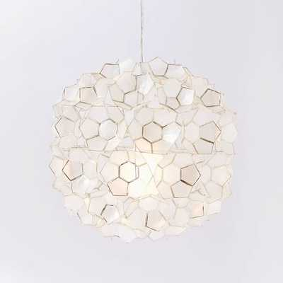 Capiz Flower Pendant - West Elm