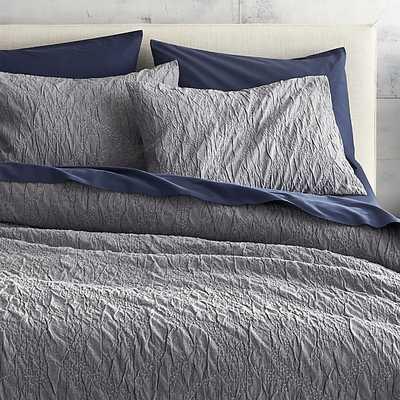 Estrela matelasse bed linens - CB2