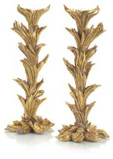 Pair of Briars Candlesticks, Gold - One Kings Lane