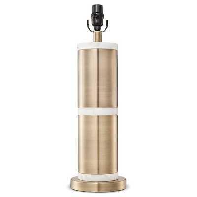 Franklin Lamp Base Large - Marble/Aged Brass - Target