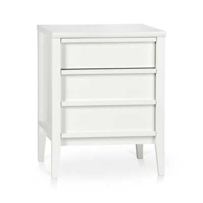 Spotlight White Filing Cabinet - Crate and Barrel