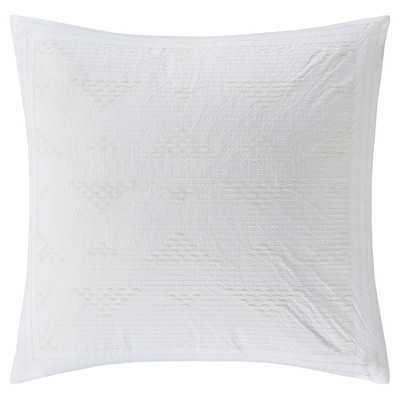 "Cario Embroidered Cotton Throw Pillow- 18"" -Polyester/Polyfill-White - Wayfair"