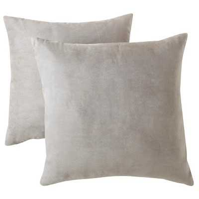 "Room Essentialsâ""¢ Suede Pillow 2-Pack 18x18"" - Gray - Polyester Fill - Target"