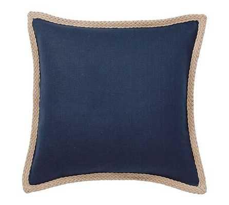 "Jute Braid Pillow Cover, 20"", SAILOR BLUE - Pottery Barn"