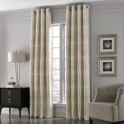 Valeron Lustre Grommet Top Long Window Curtain Panel - Bed Bath & Beyond
