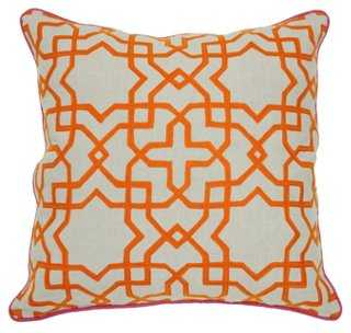 Tuile Cotton Pillow - One Kings Lane