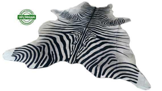 Cowhide Rug ZEBRA BLACK WHITE - Etsy