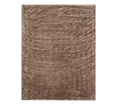 RUCHED FAUX FUR THROW - TAUPE - Pottery Barn