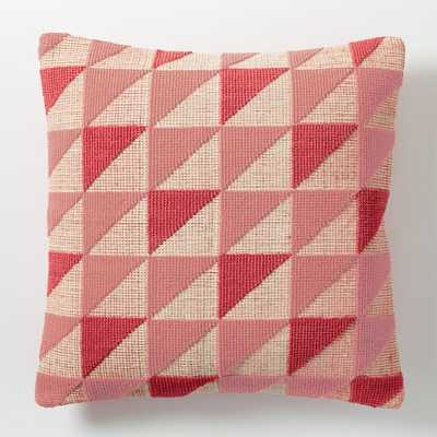 Triangle Geo Pillow Cover Poppy-Insert Sold Seperately - West Elm