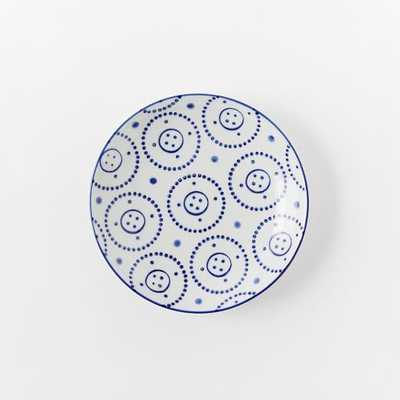 Collector's Editions Plates - Navy Dotted Circle - West Elm