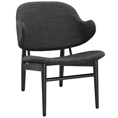 SUFFUSE LOUNGE CHAIR IN BLACK GRAY - Modway Furniture