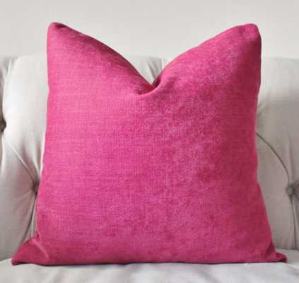 """Dark Pink Pillow Cover - 18"""" x 18"""" - insert sold separately - Etsy"""