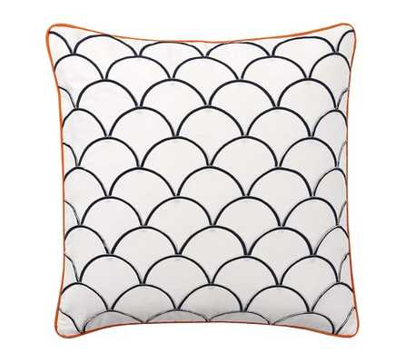 Scallop Embroidered Pillow Cover - 24sq. - Insert Sold Separately - Pottery Barn