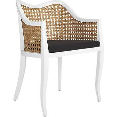 tayabas cane side chair with black cushion - CB2