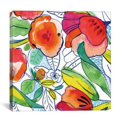 "Tropicalia by Cayena Blanca Canvas Print-26""x26""-0.75""-Unframed - Domino"
