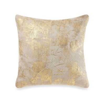 Cotton Foil Throw Pillow in Gold - Bed Bath & Beyond