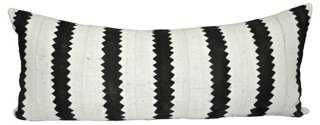 African Mud Cloth & Linen Body Pillow - One Kings Lane