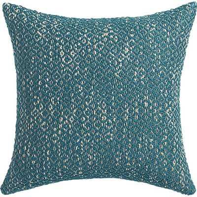 "Diamond weave swoon 18"" pillow, blue - Polyester fill insert - CB2"
