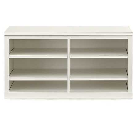 Logan Small TV Stand, Antique White - Pottery Barn