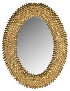 Perugia Oval Wall Mirror, Gold - One Kings Lane