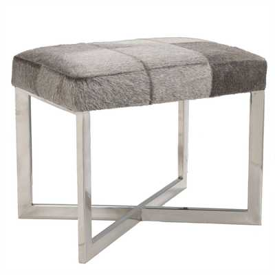 Crosshair Hide Stool - Wisteria