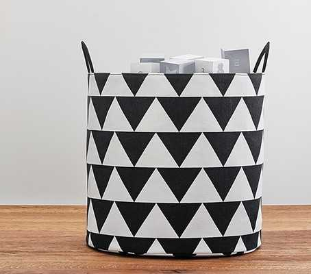 Emily & Meritt Black & White Storage - Pottery Barn Kids