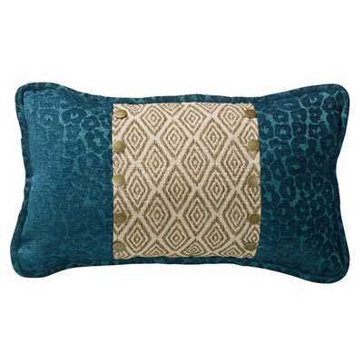 Ikat and Leopard Accent Pillow - Overstock