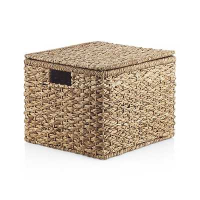 Kelby Small Square Lidded Basket - Crate and Barrel