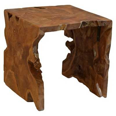Baum Teakwood Square Side Table - Natural - Target