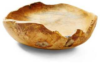 Teak Bowl, Natural - One Kings Lane