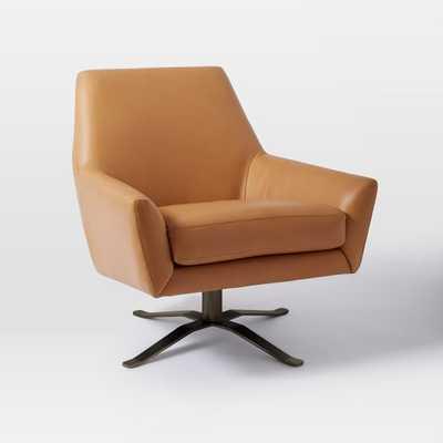 Lucas Leather Swivel Base Chair- West Elm