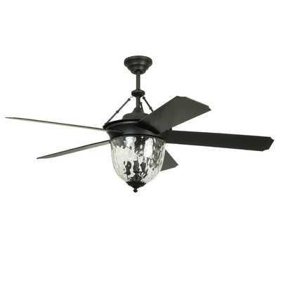 "52"" Cavalier 5 Blade Ceiling Fan with Wall Remote - Wayfair"