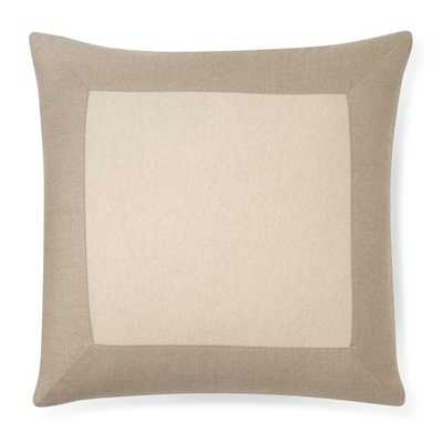 "Cashmere & Wool Blend Pillow Cover, Oatmeal-20"" sq.-No Insert - Williams Sonoma Home"