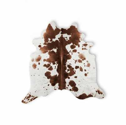 Kobe Cowhide Rug Brown & White - Domino