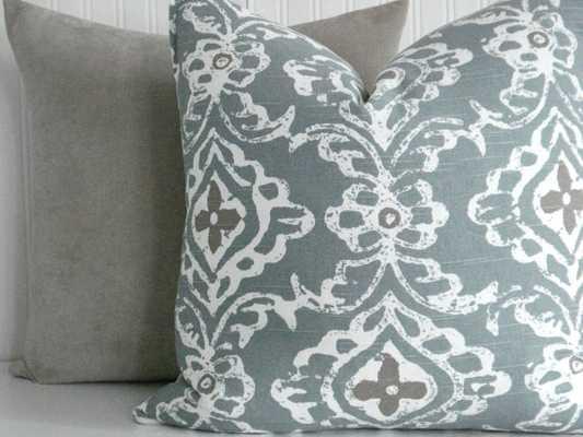 "KASHMIR Seaglass Pillow Cover 18"" x 18"" - Etsy"