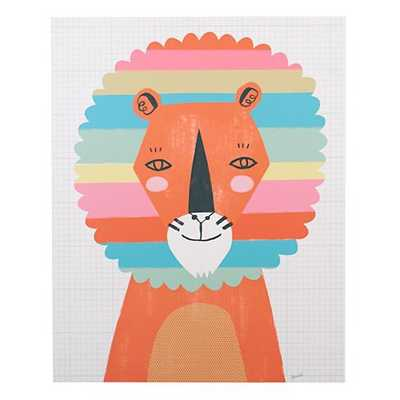 Rainbow Lion Poster Decal - Land of Nod