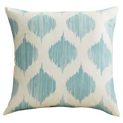 """Aguilar Cotton Throw Pillow-Blue-18""""x18""""-Down Insert - Wayfair"""