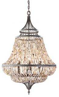 Maarid 6-Light Chandelier, Rustic Iron - One Kings Lane