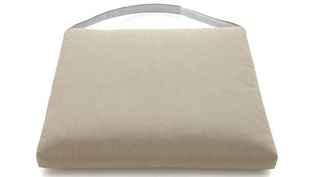 Captiva Stone Side Chair Cushion - Crate and Barrel