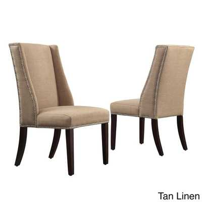 INSPIRE Q Geneva Linen Wingback Hostess Chairs - Overstock