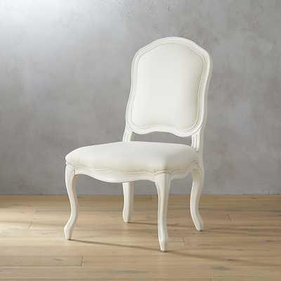 Stick around white side chair - CB2