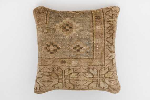 "Turkish Kilim Pillow -16"" x 16""-Feather Insert - Etsy"