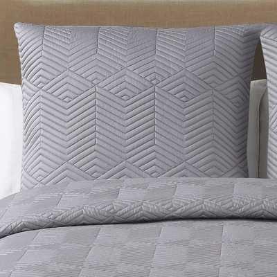 Echelon Home Echelon Monterey Quilted Cotton Euro Shams (Set of 2) - Overstock