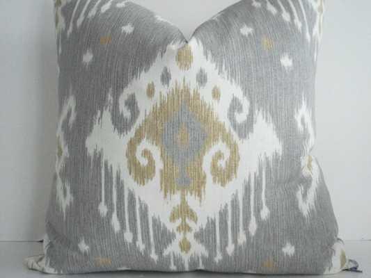 """Ikat and Kravet  Pillow 16"""" x 16"""" insert sold separately - Etsy"""