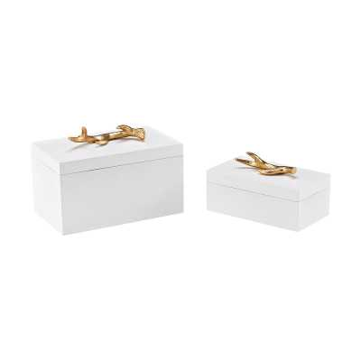 Lophelia Set of 2 Decorative Boxes - Rosen Studio