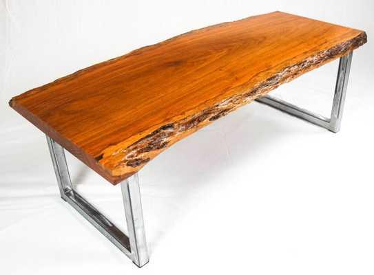 Cumaru Live Edge Wood Slab Coffee Table - Etsy