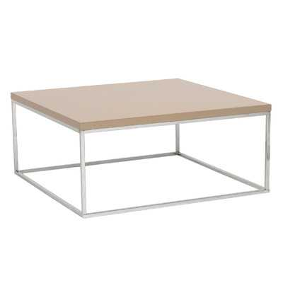 Mia Coffee Table-Taupe Lacquer - Wayfair