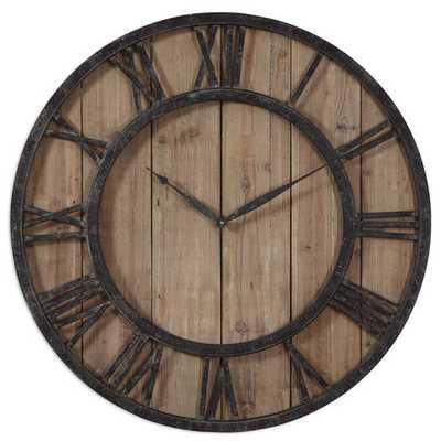 "Oversized 30"" Powell Wall Clock - AllModern"